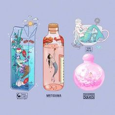 The aesthetic crew is back with a new mermay collab!☀️ 🍂 ❄ 🌸 These mermaid drinks each represent a season. (Summer☀️, Fall🍂, Winter❄, Spring🌸) 🎋 I had the summer theme and designed my mermaid drink after Tanabata festival in Japan on July 🎋 Cute Kawaii Drawings, Kawaii Art, Aesthetic Art, Aesthetic Anime, 2560x1440 Wallpaper, Mermaid Drink, Character Art, Character Design, Japon Illustration
