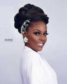 This Bridal Beauty Look is all for The Brown Skin Bride Natural Bridal Makeup Beauty Bridal Bride Brown Skin Black Wedding Makeup, Bridal Makeup Looks, Bridal Hair And Makeup, Bride Makeup, Bridal Beauty, Hair Makeup, Black Brides Hairstyles, Best Wedding Hairstyles, Bride Hairstyles