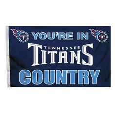"This officially licensed Titans flag is made of durable 100% polyester and is designed with 2 heavy-duty metal grommets so it is easy to hang and fly. These high-quality banner flags read ""Your in Ten"