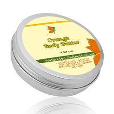 Organic Orange Body Butter made with Sweet Orange Essential Oil to lift up emotions and sooth your skin