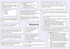 Sample of a revision document on resource management for AQA GCSE Geography Paper 2 (available at the link above) Gcse Geography Revision, Geography Quiz, Gcse Revision, Revision Notes, Study Notes, Water Management, Resource Management, A Level Revision, Water Energy