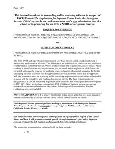 eb-5-plan-assessment-template by Joseph  Whalen via Slideshare