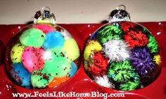 Fun ornaments to make with a preschooler.