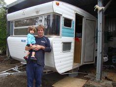 Great vintage retro caravan renovation story - looking forward to the final pics!