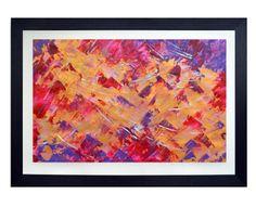 Abstrakcja akryl na papierze w ramie drewnianej z Passe-Partout, plexi przeźroczyste zabezpieczające obraz. Obraz gotowy do powieszenia(zamocowane haczyki). Wymiary obrazu z ramą: 100x70cm, bez ramy: 50x80cm. #obrazy_abstrakcyjne #malarstwo_abstrakcyjne #abstrakcja #sztuka_abstrakcyjna