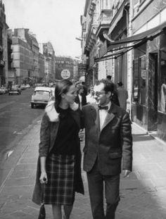 Anna Karina et Jean-Luc Godard, Paris,1965