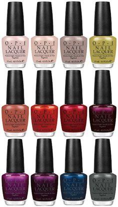 Fall Nail Colors from OPI
