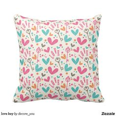 love key throw pillow $33.50 per pillow   Artwork designed by decore_you