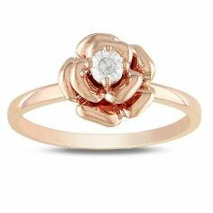 10k Pink Gold 1/7 CT TDW Diamond Pink Rhodium Plated Fashion Ring (G-H, I2-I3) Amour. $364.99
