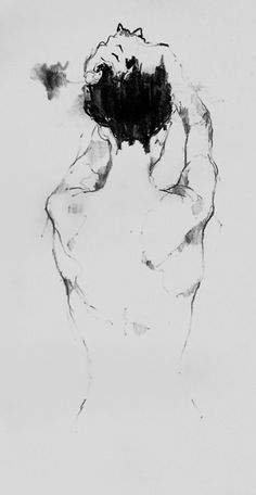 Egon Schiele (1890–1918, female back drawing.