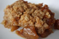 Grammie's apple crisp