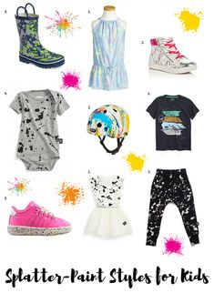 Splatter Paint Styles for Little Kids: Messy and Fashionable Pieces | Kids Summer Fashion | Kids Fashion Trends | MomTrends #KidsFashionRock