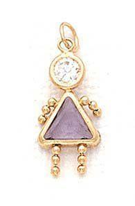 14k 5mm Girl June Birthstone CZ Pendant - JewelryWeb JewelryWeb. $102.50. Save 50%!