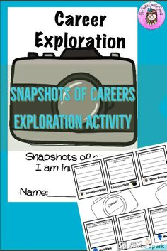 Help students start their exploration by using this research activity to spark their interest. Students jot down facts @ the career description, education or skills needed, work place, High School Activities, Activities For Teens, Counseling Activities, Steam Activities, Holiday Activities, Elementary School Counselor, Elementary Education, School Counseling, Career Exploration