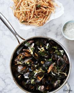 birthday dinner ideas Moules Frites Mussels And Fries Recipe Fish Recipes, Seafood Recipes, Recipies, Oven Recipes, Soup Recipes, Pork Scallopini, Easy French Recipes, Quick Recipes, Healthy Recipes