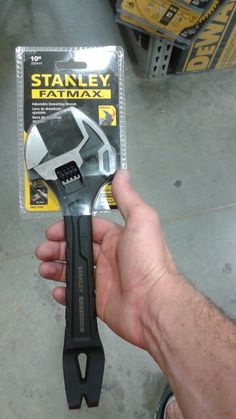 Go-bag essential! Compact pry-bar/adjustable wrench/hammer.