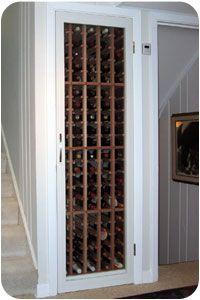 Fridge Under Stairs Cupboard ; Fridge Under Stairs Fridge Under Stairs Cupboard ; Fridge Under Stairs Under Stairs Wine Cellar, Wine Cellar Basement, Closet Under Stairs, Under Stairs Cupboard, Closet Bar, Closet Ideas, Closet Doors, Home Wine Cellars, Wine Cellar Design