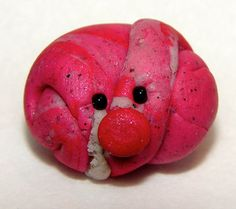 RED RAINBOW Edition Polymer Clay Pet RocK by KatersAcres on Etsy