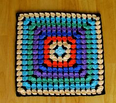 Da's Crochet Connection: One Granny Square Blanket