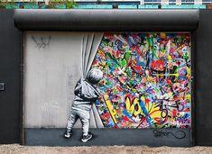 - Street art by Martin Whatson art art graffiti art quotes Art Block, Art Design, Tag Art, Wall Art, Graffiti Murals, Murals Street Art, Painting, Kinder Art