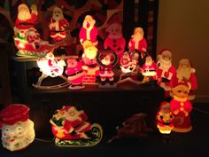 My Collection   Vintage Santa Blow Mold Light
