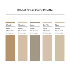 15 More Color Palettes | Wheat Grass Color Palette