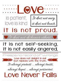 {FREE} Love Never Fails printable
