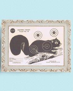 1950s Vintage Sears Paper Shooting Target Squirrel