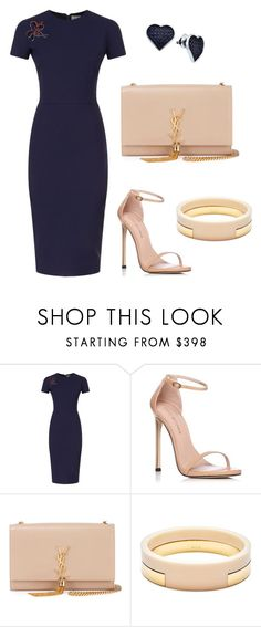 """out"" by sofi-crea ❤ liked on Polyvore featuring Victoria Beckham, Stuart Weitzman, Yves Saint Laurent, Marni and BillyTheTree"