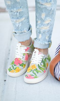 Casual & cool Hawaiian-printed lace-up sneakers