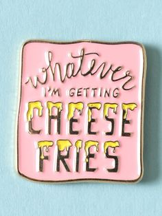 Cheese Fries Enamel Pin - Gypsy Warrior