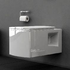 Tiefspül-WC wandhängend (mit Soft-Close WC-Sitz)