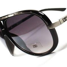 940869e7d4 DG Designer Fashion Vintage Aviator Mens Womens Black Gun Metal Sunglasses  A56A Fashion Vintage
