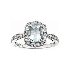 jcpenney.com | Aquamarine & Lab-Created Sapphire Ring