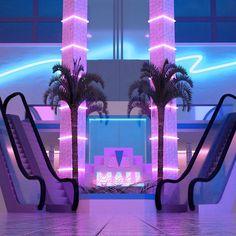 -p a r a d i s e m a l l- : VaporwaveAesthetics Aesthetic Space, Purple Aesthetic, Retro Aesthetic, Aesthetic Photo, Aesthetic Pictures, New Retro Wave, Retro Waves, Vaporwave Art, Retro Futuristic