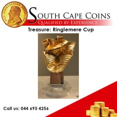 Treasure: Ringlemere Cup Location: Sandwich, Kent Year: 2001 One morning in a muddy field near Ringlemere, East Kent, metal detector hobbyist Cliff Bradshaw heard a tell tale beep. After some digging Mr Bradshaw unearthed an exquisite and rare gold chalice, now known as the Ringlemere Cup. It was only the second example of its type to come from Britain. Call us: 044 695 4256 For more information: info@southcapecoins.co.za #coins, #investment,