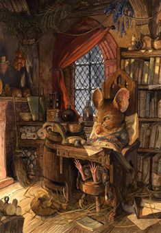 Jacques' Rest by Chris Dunn Illustration/Fine Art: Gallery Art And Illustration, Book Illustrations, Watercolour Illustration, Illustration Animals, Chris Dunn, Art Fantaisiste, Art Mignon, Fairytale Art, Inspiration Art