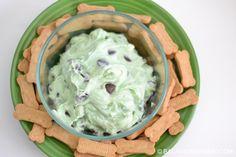 Super Quick and super simple dessert! Mint chip cheesecake dip. YUM!