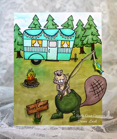 Stamps - North Coast Creations Happy Camper, Fishing Buford