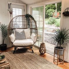 The Southport Patio Egg Chair from Opalhouse™ is a fun and unique addition to any outdoor living space. Large and visually interesting enough to sta. Living Room Chairs, Living Room Decor, Living Spaces, Bedroom Decor, Dining Chairs, Wicker Chairs, Chair Cushions, Dining Room, Decor Room