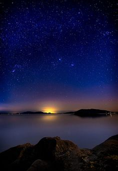 Jupiter Over Wildcat Cove - Larrabee State Park, Washington