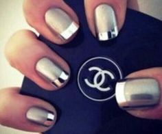 Chrome and silver nails