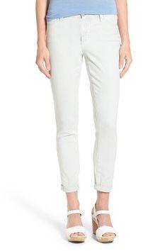 'Nichelle' Stripe Stretch Slim Roll Cuff Ankle Jeans (Verona)