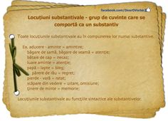 Locuțiunea substantivală Romanian Language, Good To Know, Homeschooling, Parenting, Education, Learning, Studying, Childcare, Teaching