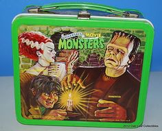 Vintage Universal Movie Monsters Metal Lunch Box Aladdin.Ind. 1979