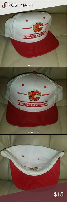 Vintage 90s Calgary Flames snapback cap In great condition. Comes from a smoke free home! Accessories Hats