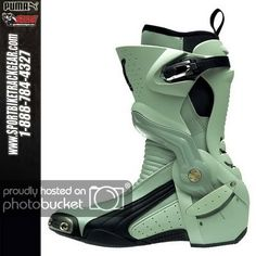 Puma GP1000 V1 Boots Closeout Sale !!!!!!!! - Triumph675.Net Forums Cyberpunk Clothes, Cyberpunk Fashion, Motorcycle Boots, Moto Boots, Puma Boots, Futuristic Shoes, Carapace, Fresh Shoes, Dog Shirt