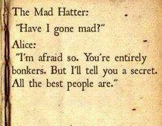 Alice in wonderland - quote