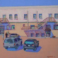 "Daily+Paintworks+-+""Fire+Escapes""+-+Original+Fine+Art+for+Sale+-+©+Nancy+Roberts"