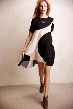 modern silk swing dress (from anthropologie)